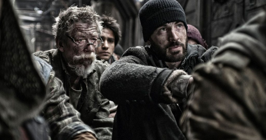 Chris Evans and John Hurt Snowpiercer